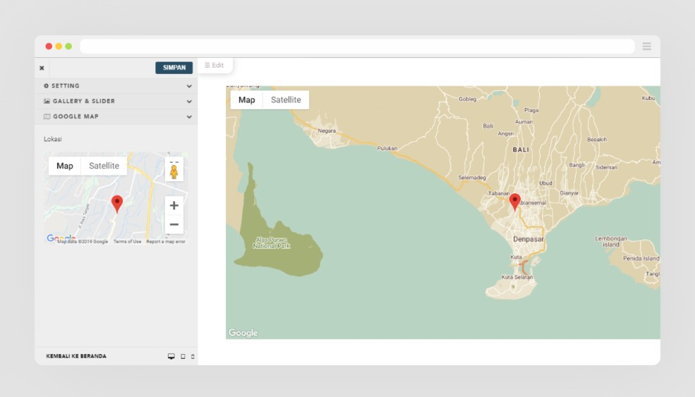 Integrasikan undangan anda dengan Google Maps